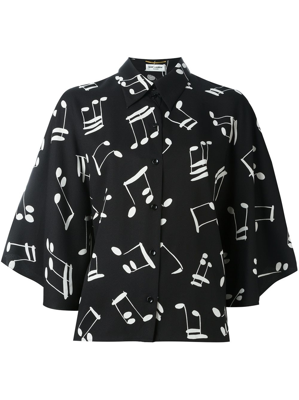 musical notes sweater lyst saint laurent music note printed shirt in black 3798