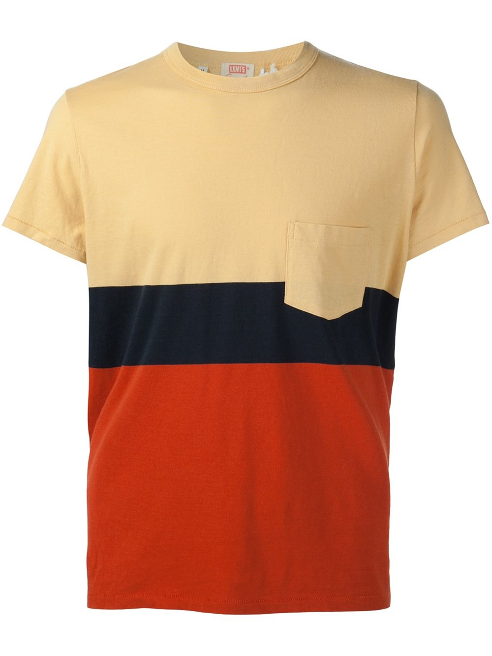Lyst levi 39 s colour block t shirt in black for men for Mens black levi shirt