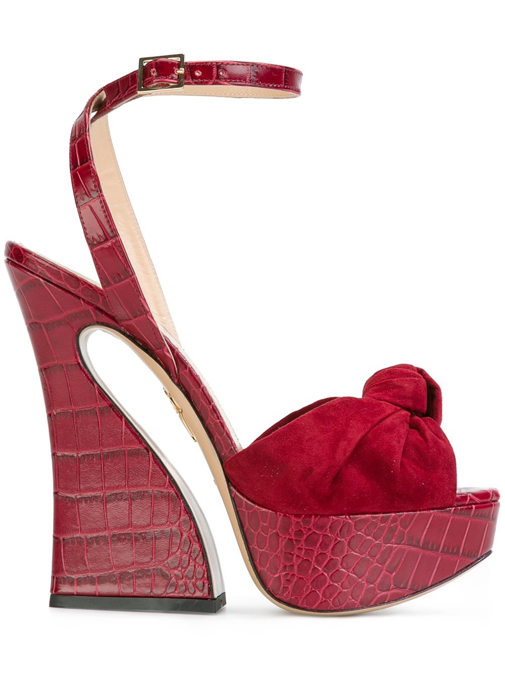 Thom Browne Red Platform Vreeland Sandals