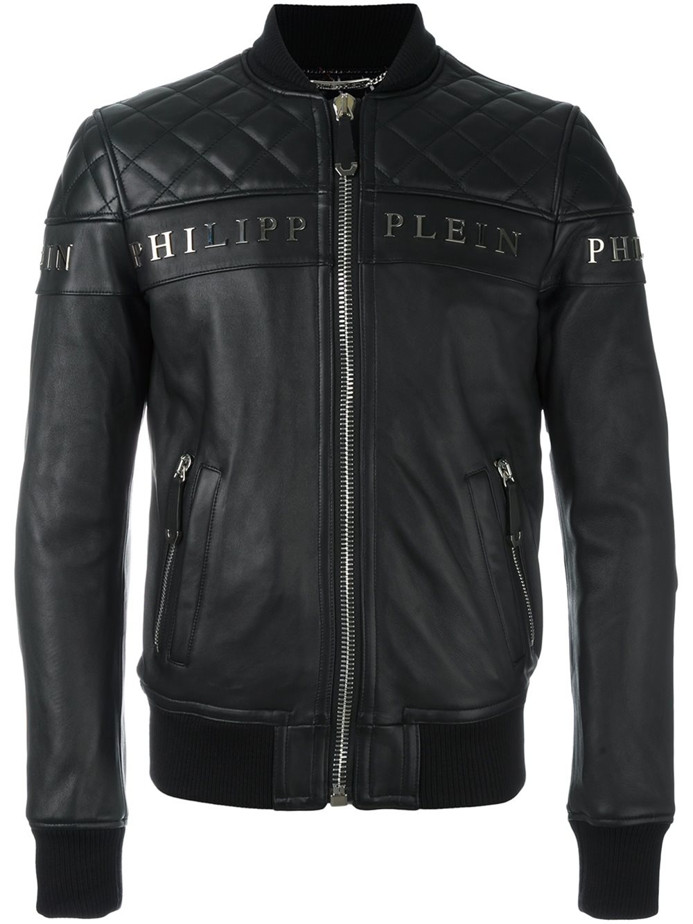 philipp plein 39 crimson 39 bomber jacket in black for men lyst. Black Bedroom Furniture Sets. Home Design Ideas