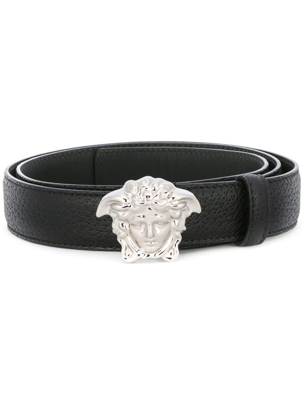 versace medusa winger belt in black for men lyst. Black Bedroom Furniture Sets. Home Design Ideas