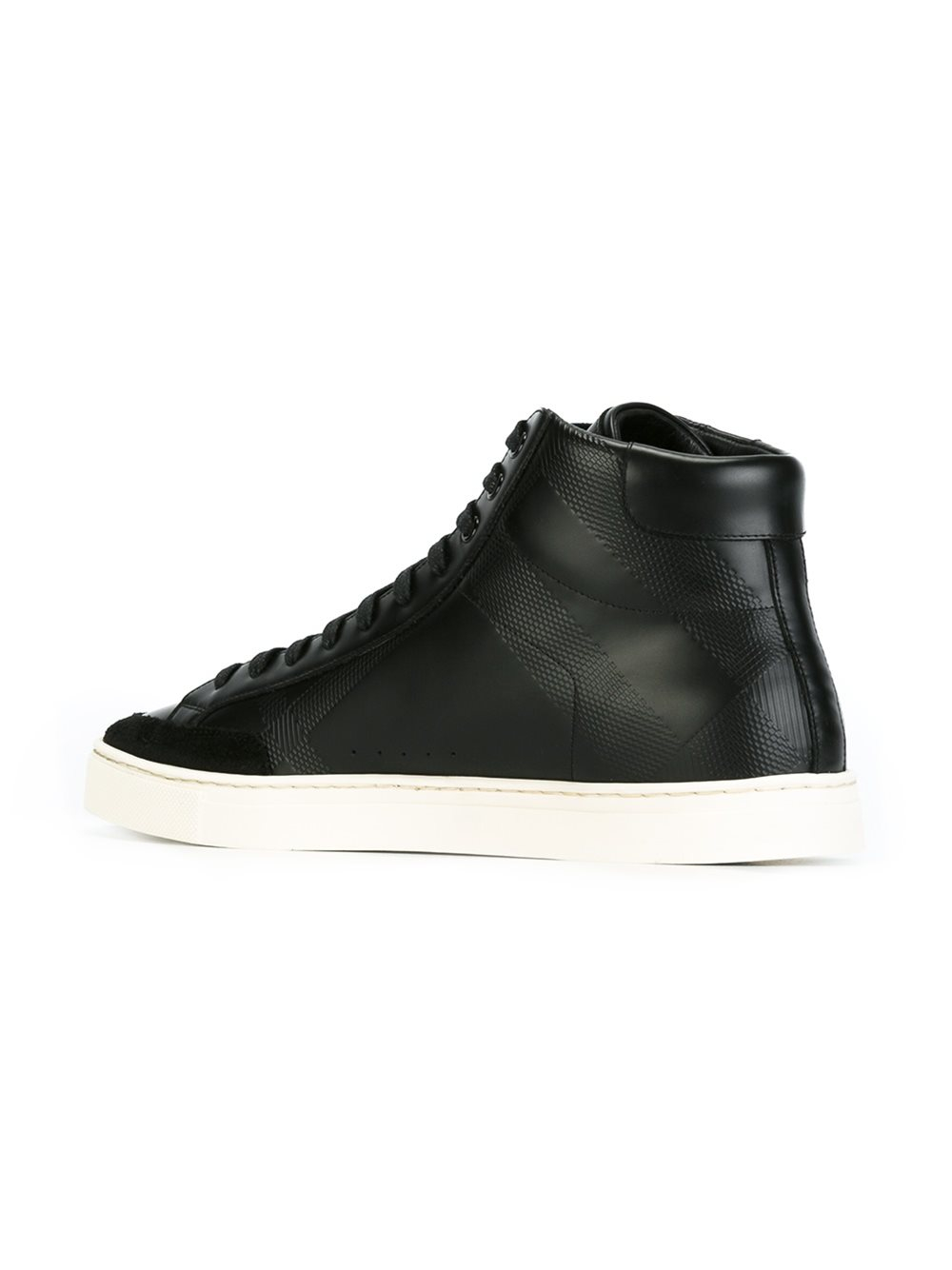 Lyst - Burberry High-Top Sneakers in Black for Men