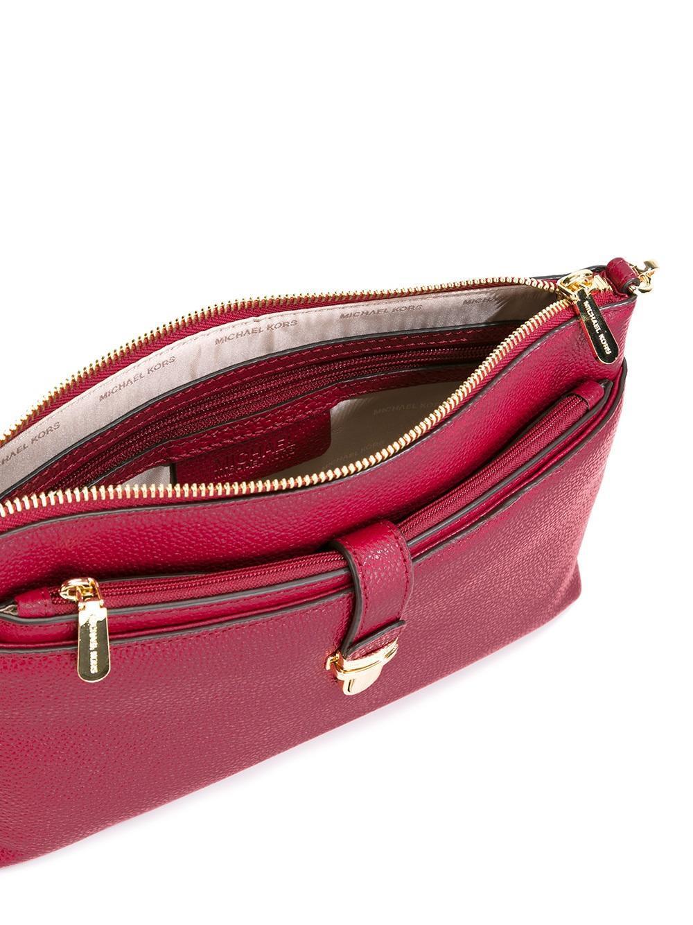 Michael Michael Kors Detachable Strap Crossbody Bag In Red