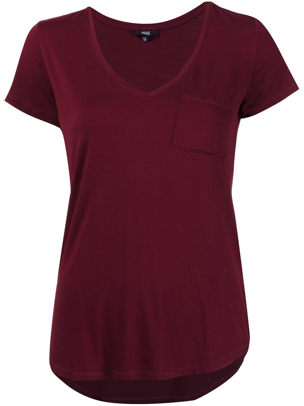 Lyst paige scoop neck t shirt in black for Scoop neck t shirt