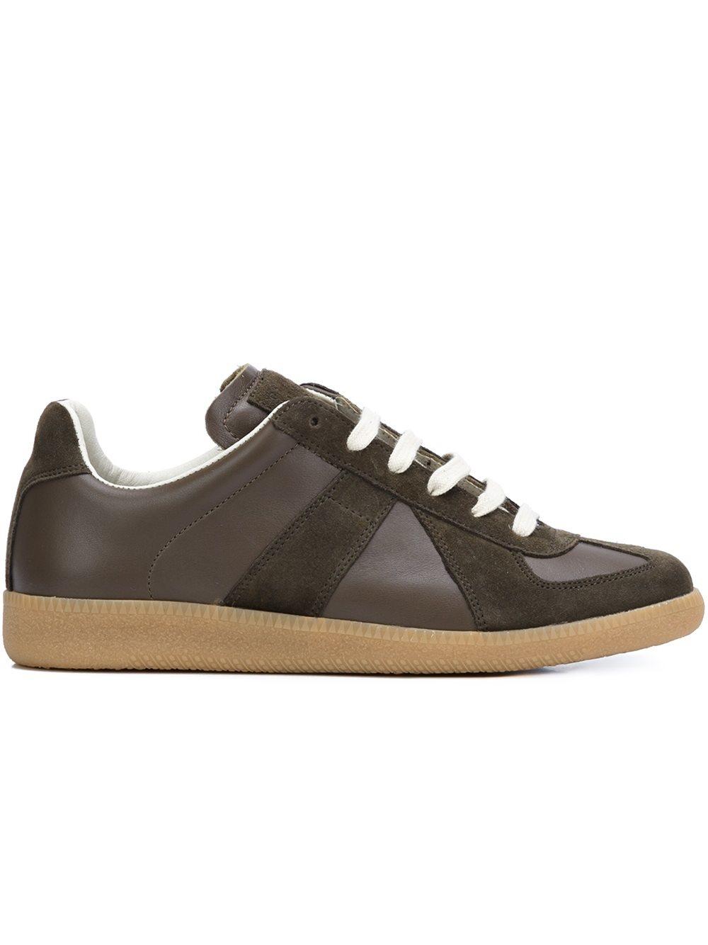 maison margiela 39 replica 39 sneakers in brown for men lyst