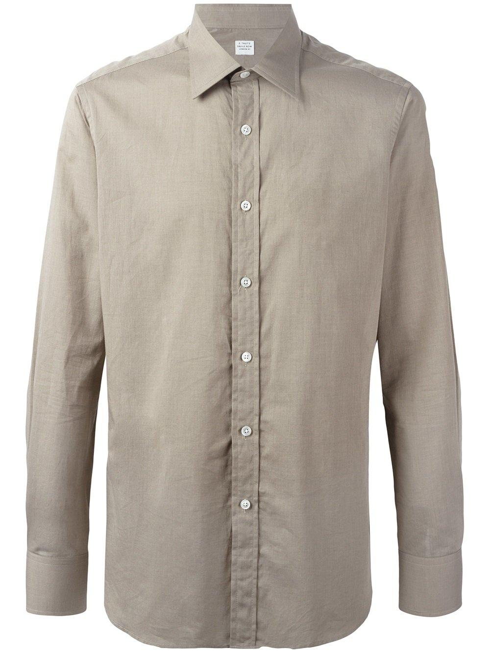 E tautz classic button down shirt for men lyst for Preppy button down shirts