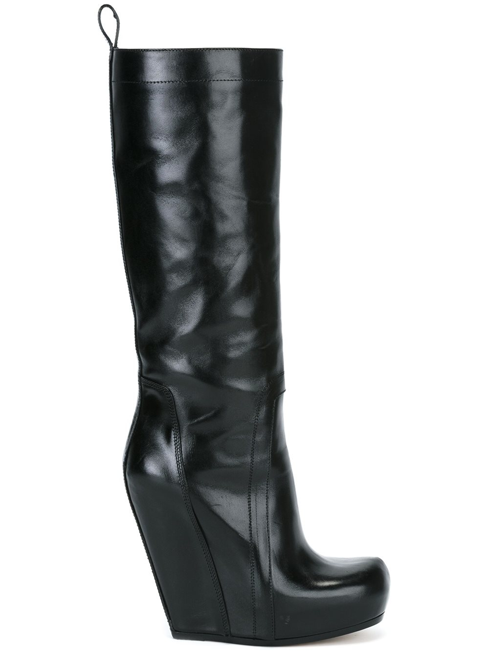 Rick Owens Wedge Boots In Black Lyst