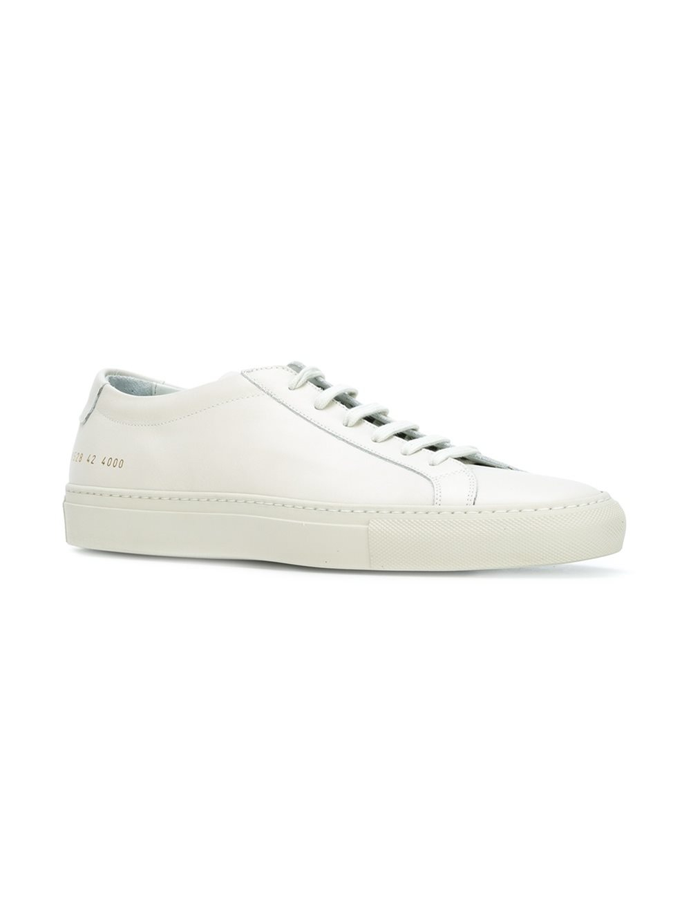 common projects lace up sneakers men leather rubber 41 in white for men lyst. Black Bedroom Furniture Sets. Home Design Ideas