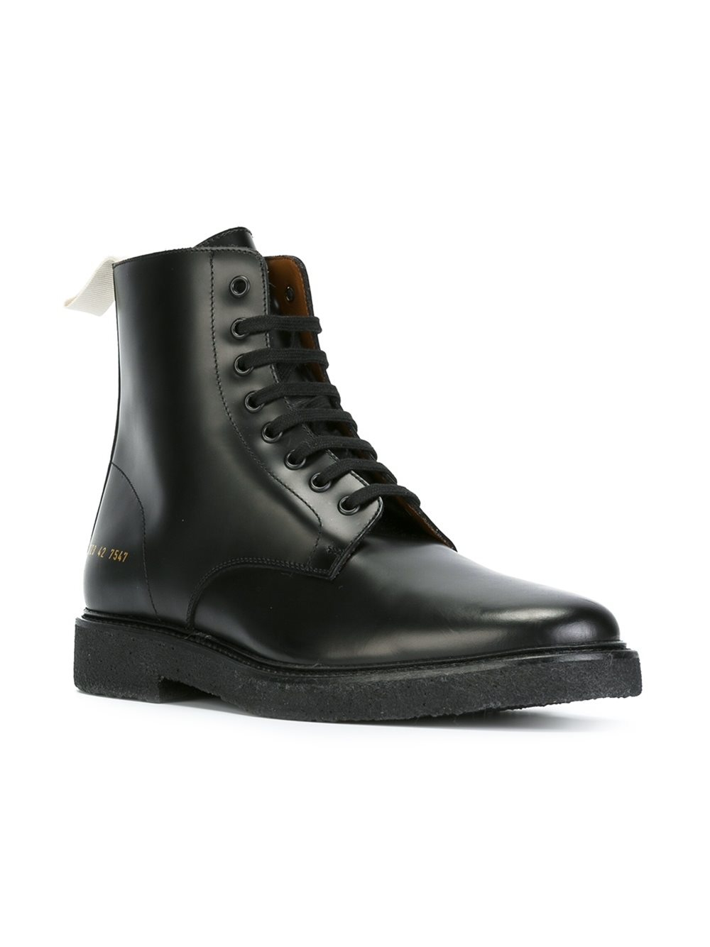 Lyst Common Projects Ankle Length Tie Up Boots In Black