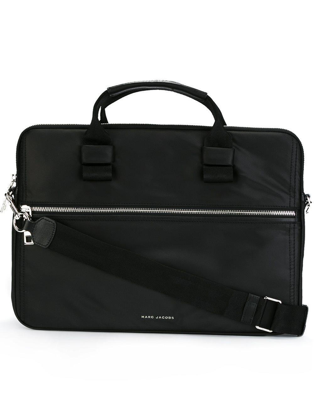 marc jacobs zipped laptop bag in black lyst. Black Bedroom Furniture Sets. Home Design Ideas