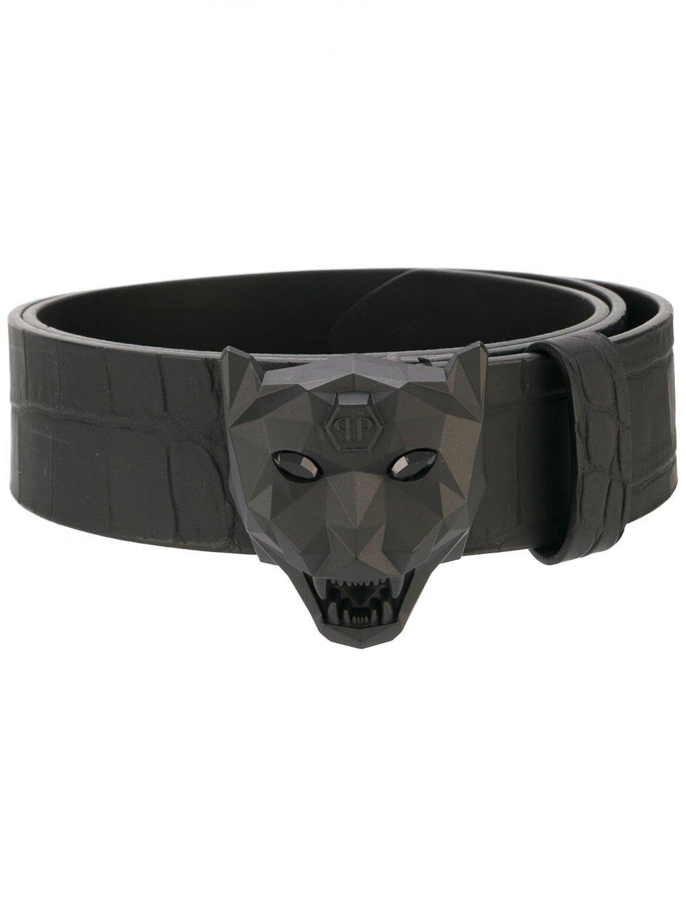 philipp plein 39 only 39 belt in black for men lyst. Black Bedroom Furniture Sets. Home Design Ideas