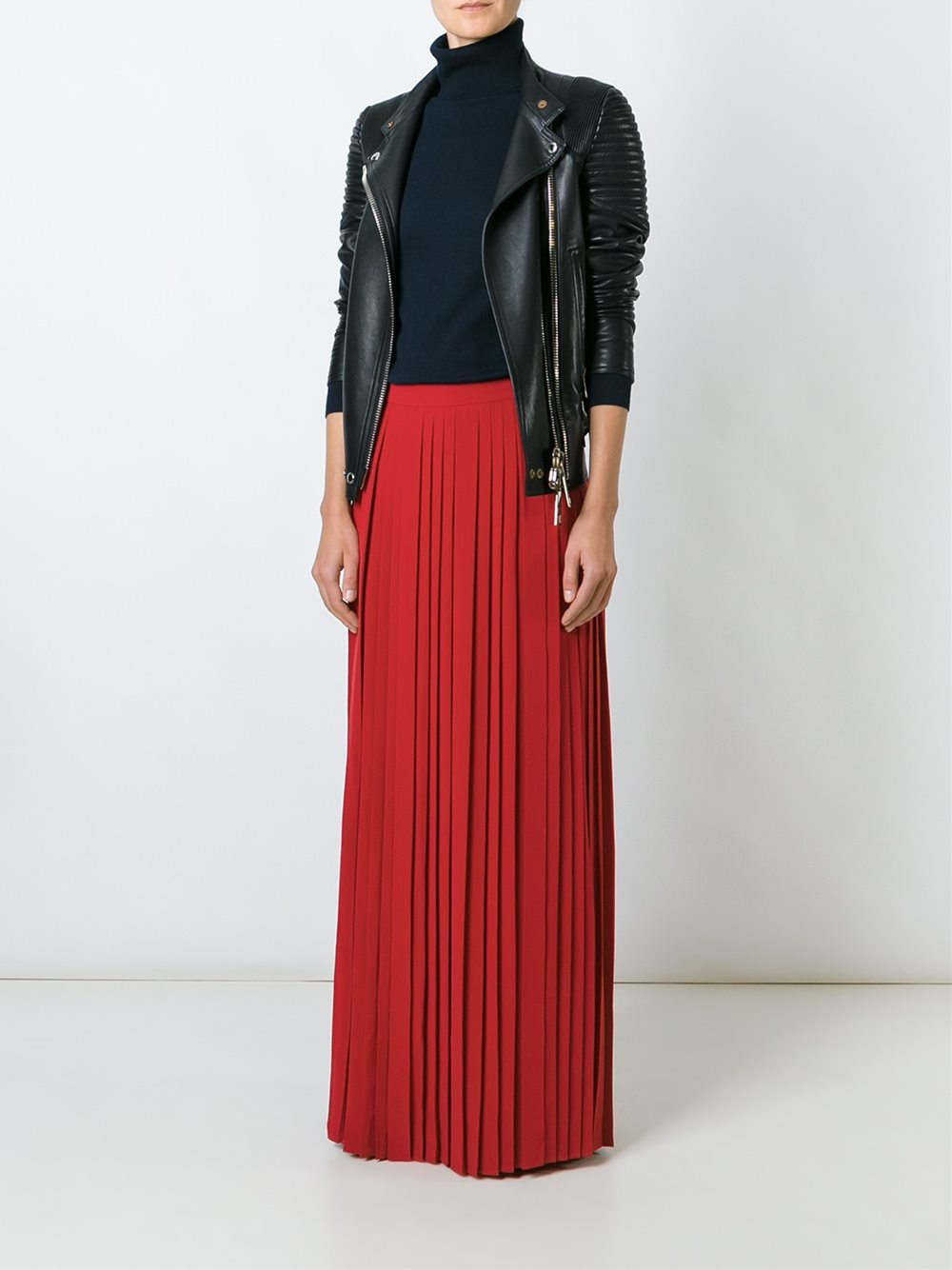 Tory burch long pleated skirt in black lyst for Tory burch fashion island