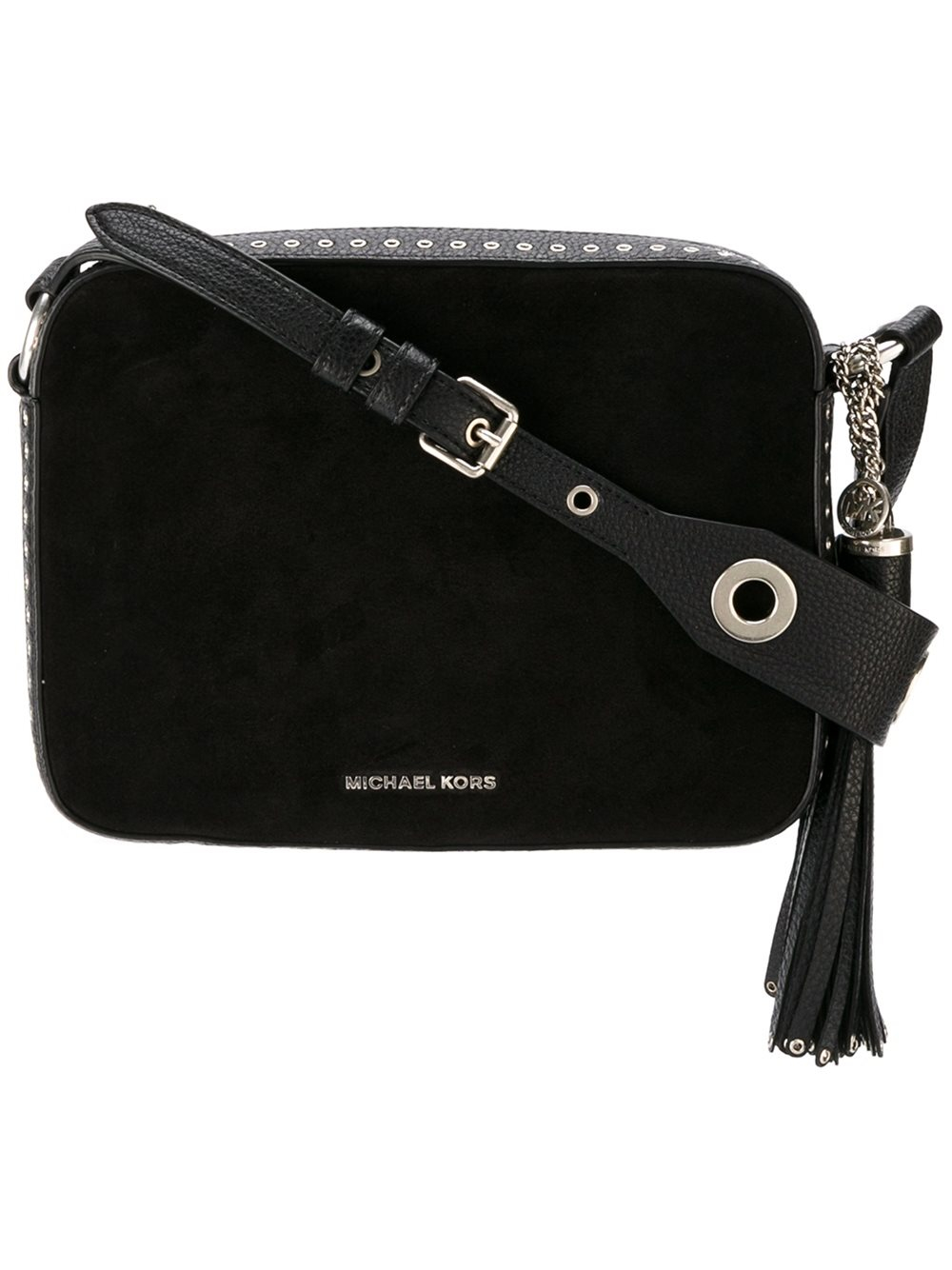 a75b05d83d12 MICHAEL Michael Kors Large Brooklyn Camera Suede and Leather Cross ...