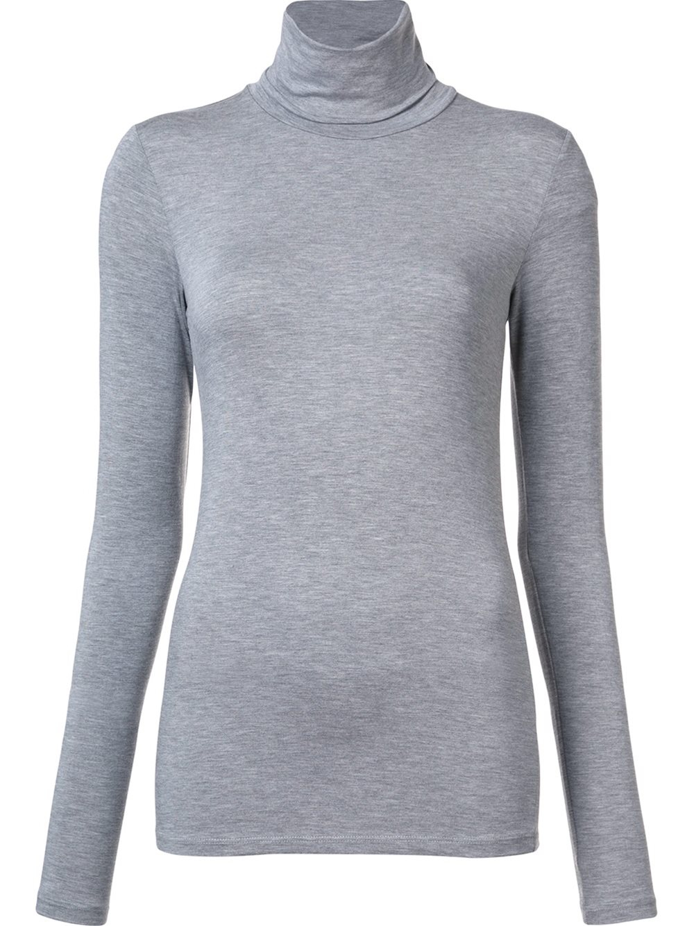 Majestic filatures high neck longsleeved t shirt in grey for High neck tee shirts