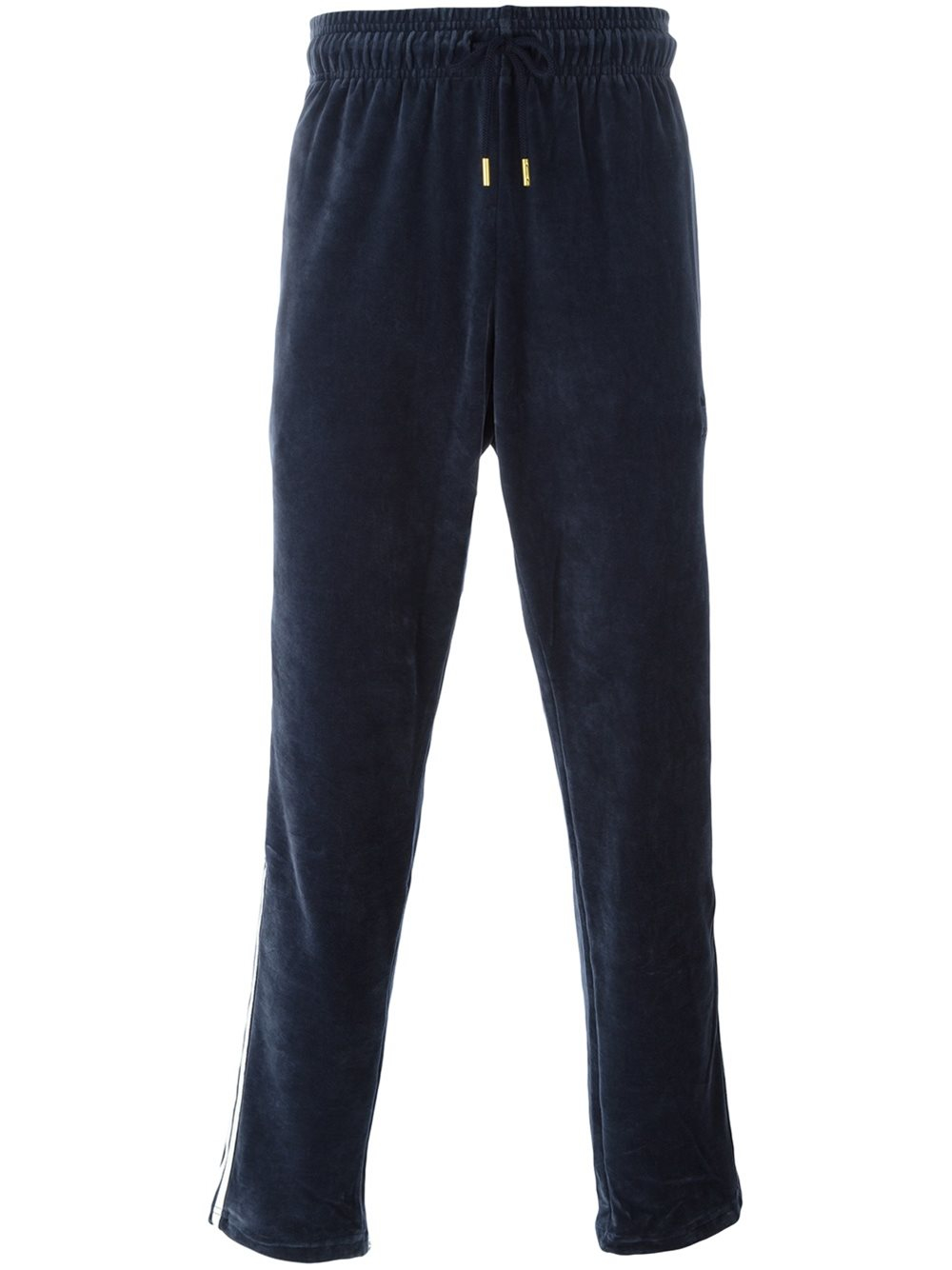 adidas originals velour track pants in blue for men lyst