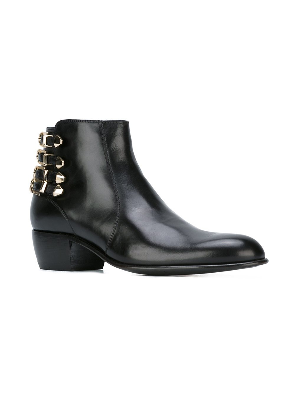 Cesare paciotti Multiple Buckles Ankle Boots in Black   Lyst