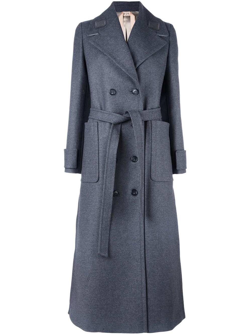 Lyst - Nu00b021 No21 Double Breasted Coat in Gray