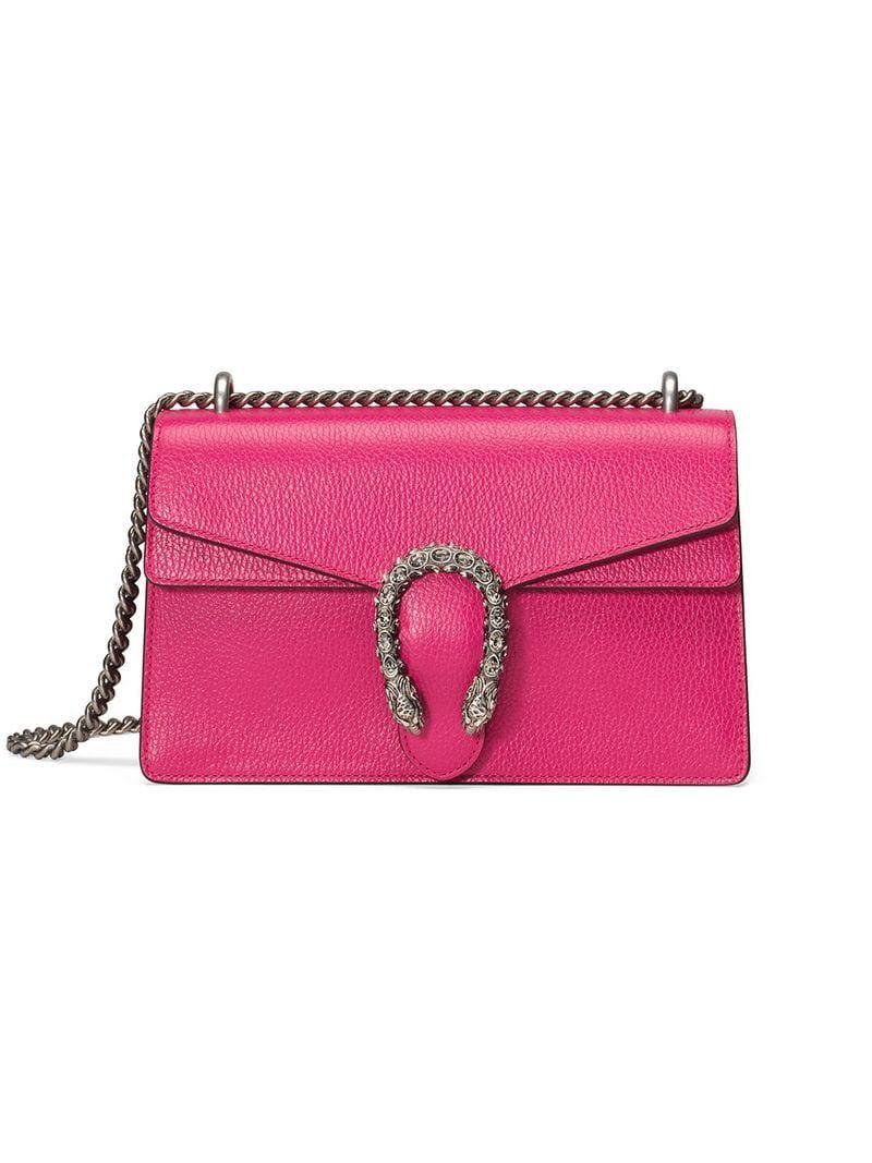 0e40f05df543 Lyst - Gucci Dionysus Small Shoulder Bag in Pink