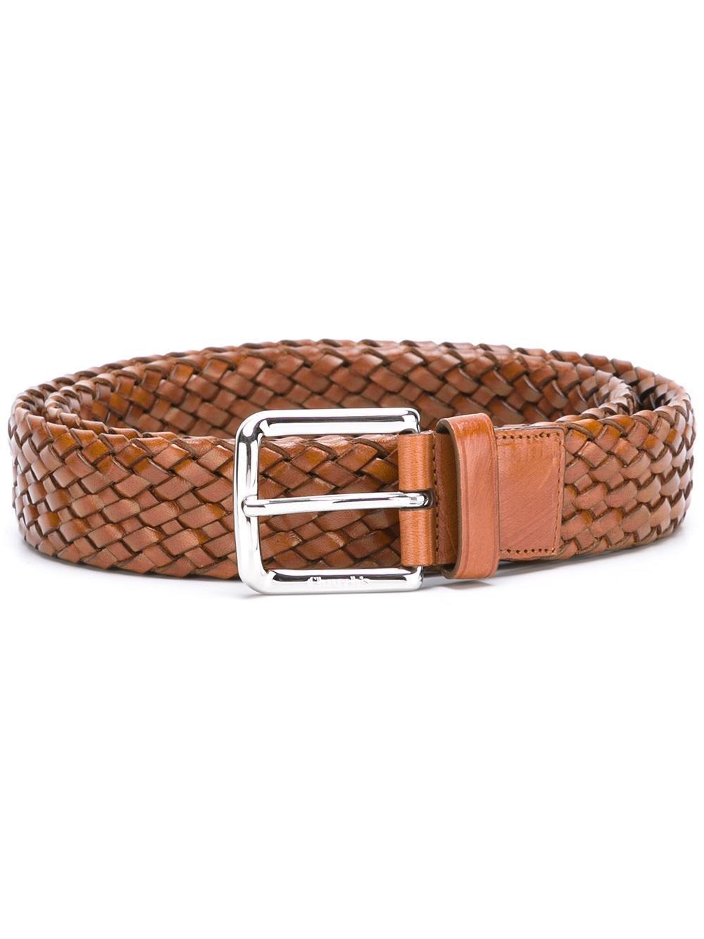 church s woven belt in brown lyst