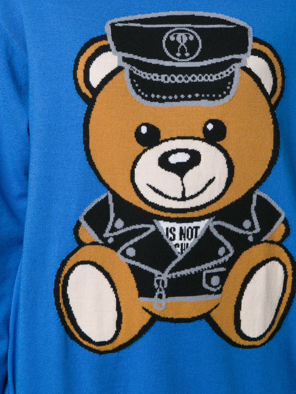 Moschino Biker Bear Sweater Dress In Blue Lyst