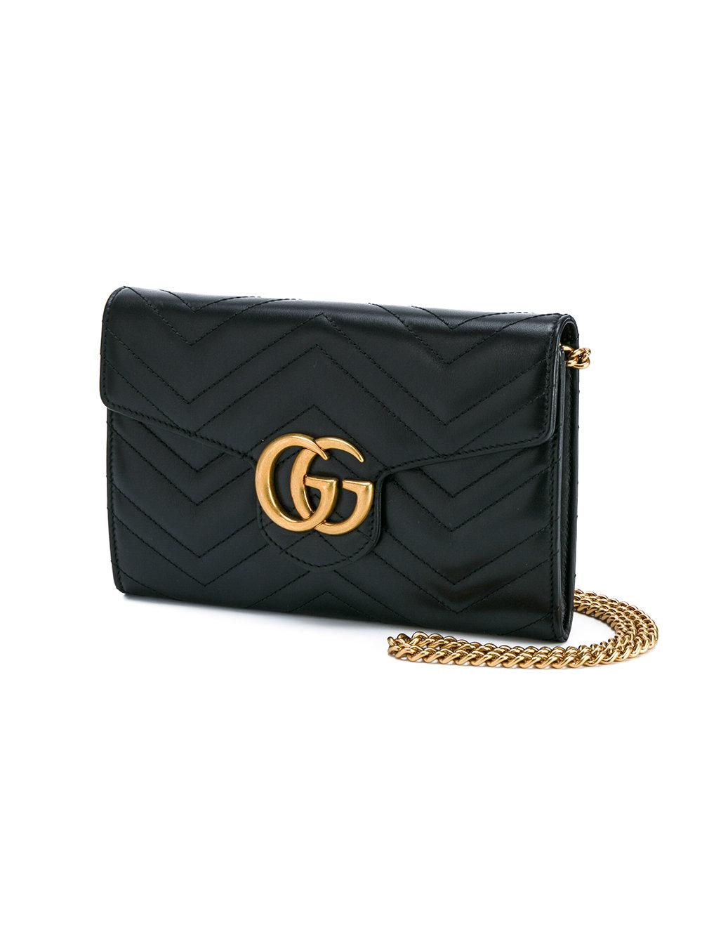 99777051410a1d Gucci Gg Marmont Matelasse Leather Pouch 476440 - Ontario Active ...