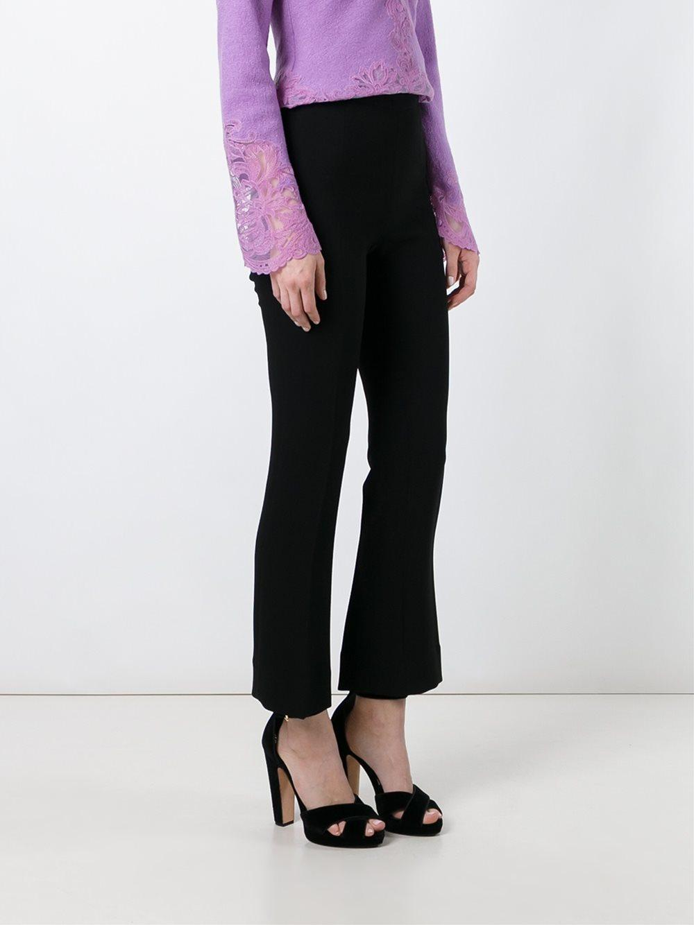 Black Fit Lyst In Trousers Slim Ermanno Kick Scervino Flare aHqzOS