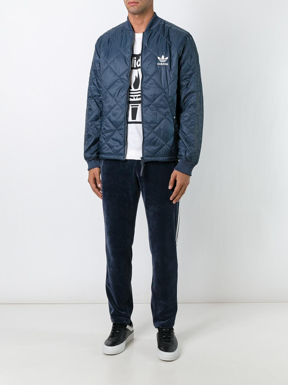 Lyst Adidas Originals Quilted Superstar Bomber Jacket
