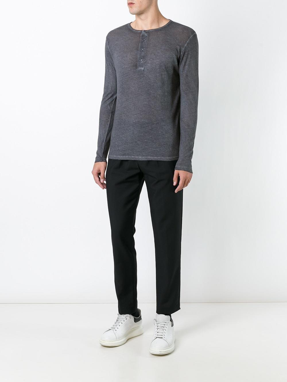 Lyst Majestic Filatures Buttoned Longsleeved T Shirt In