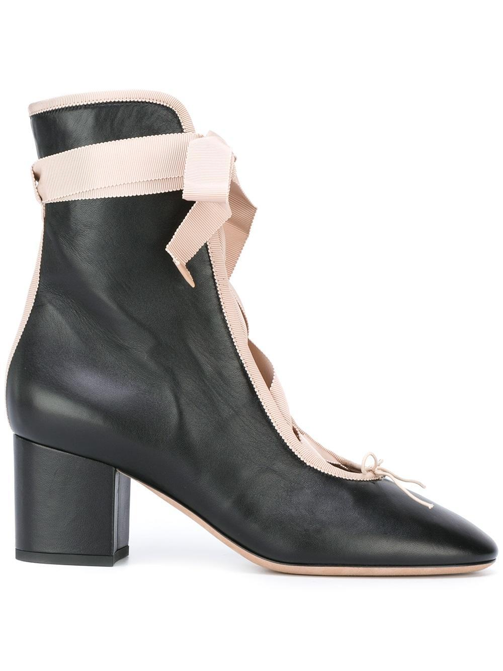 Lace-up leather boots Valentino CLp9U7214