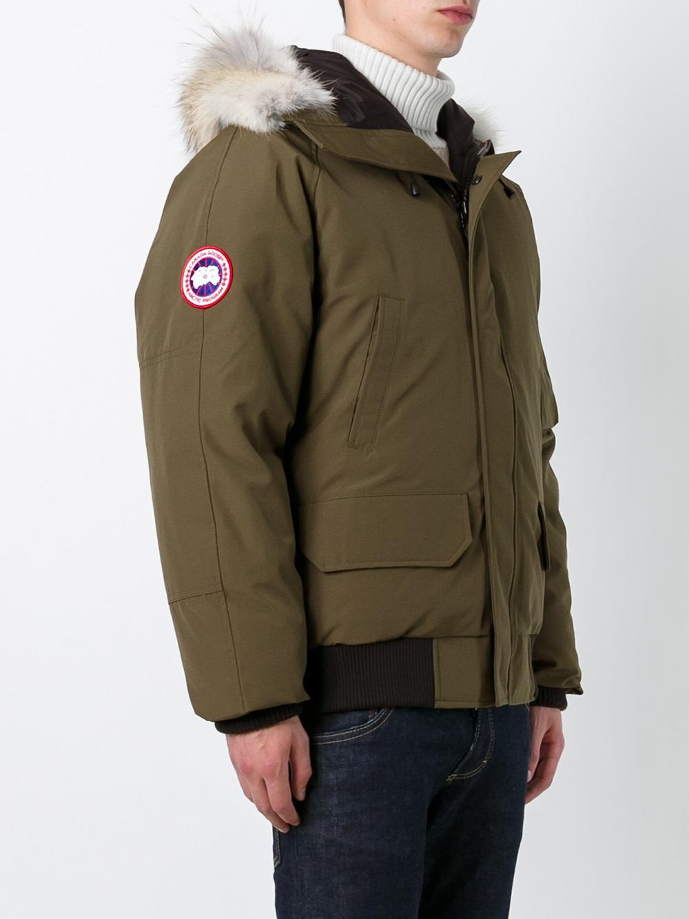 canada goose 39 chilliwack 39 bomber jacket in green for men. Black Bedroom Furniture Sets. Home Design Ideas