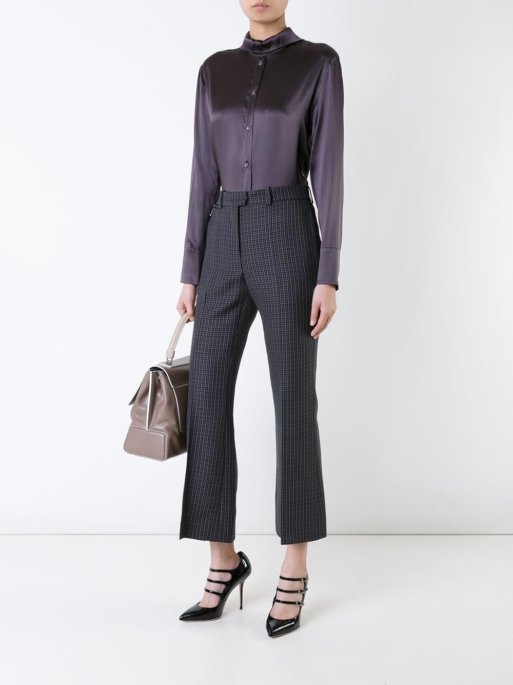 138dd85a28 Lyst - Nina Ricci Shirt Bodysuit in Gray