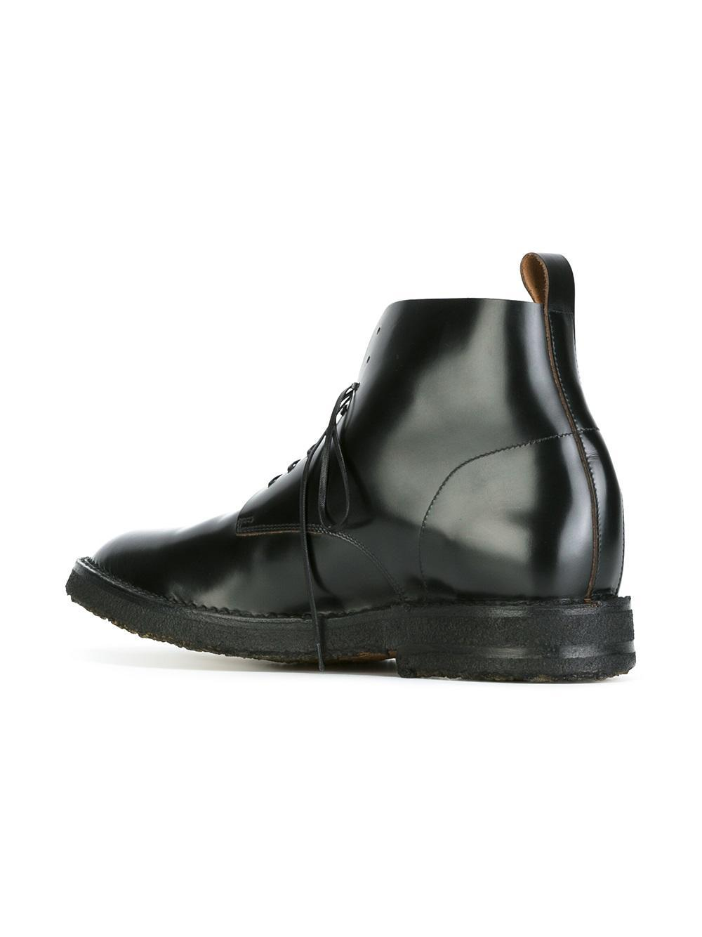 Lyst Buttero Curved Oxford Detail Boots In Black For Men