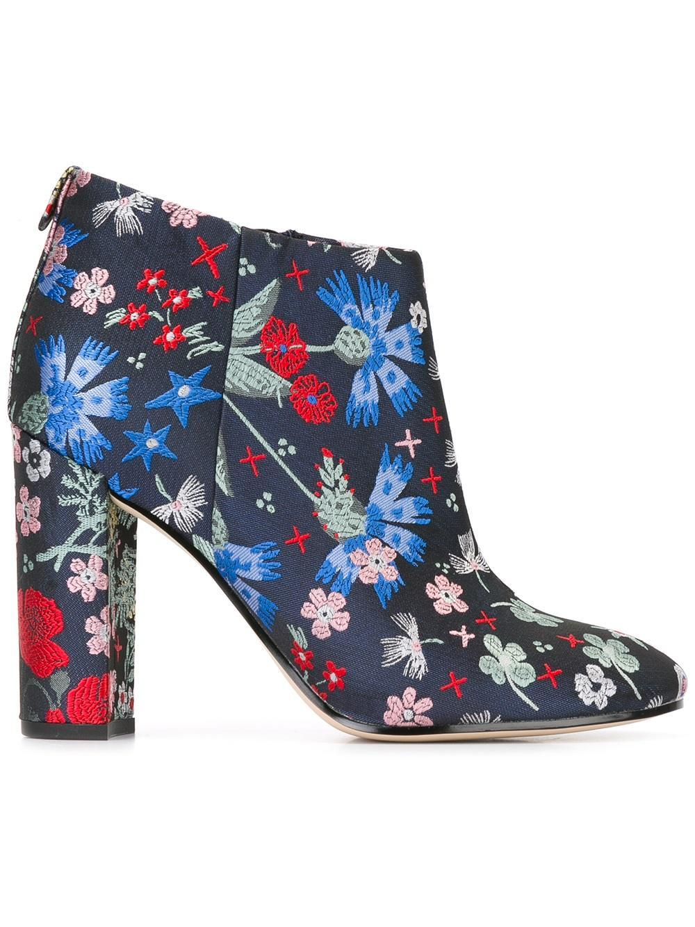 637eb88166dab4 Lyst - Sam Edelman Cambell Embroidered Booties in Blue