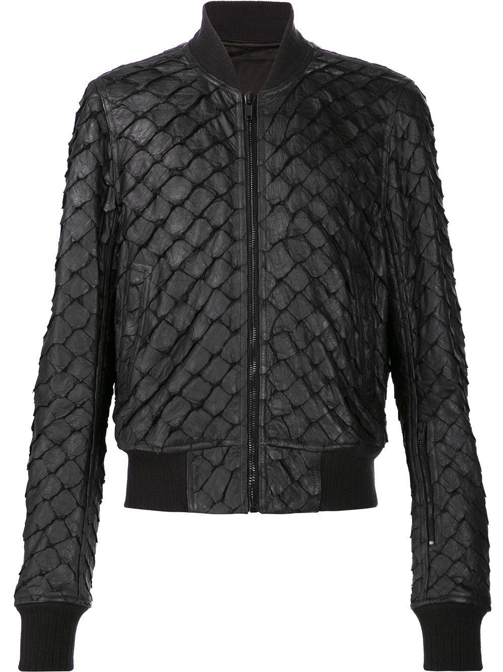 Lyst Rick Owens Glitter Flight Bomber Jacket In Black