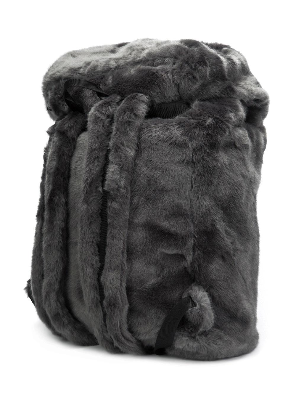 441f83a80459 Lyst - PUMA Fenty X Rihanna Fur Effect Backpack in Gray