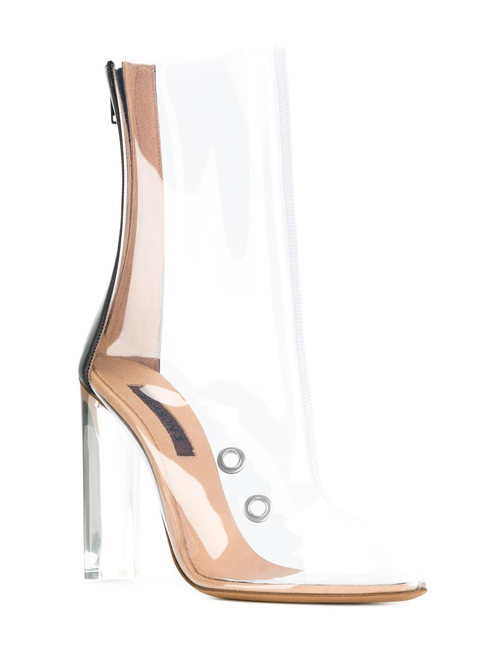 f6fd6d53e96 Lyst - Yeezy Season 3 Pvc Ankle Boots in White