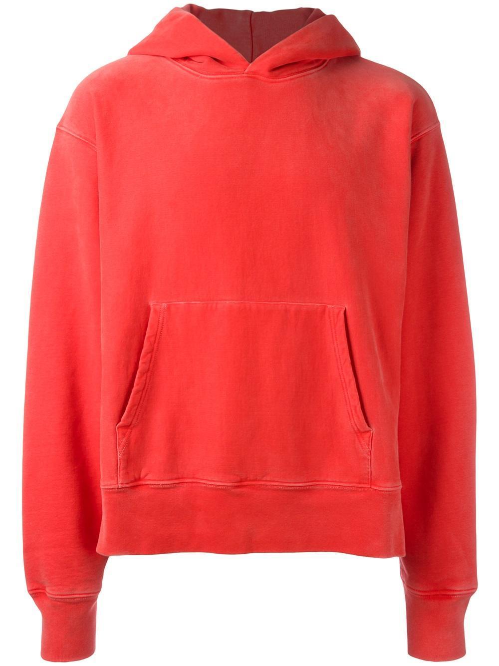yeezy season 3 fleece hoodie in red for men lyst. Black Bedroom Furniture Sets. Home Design Ideas
