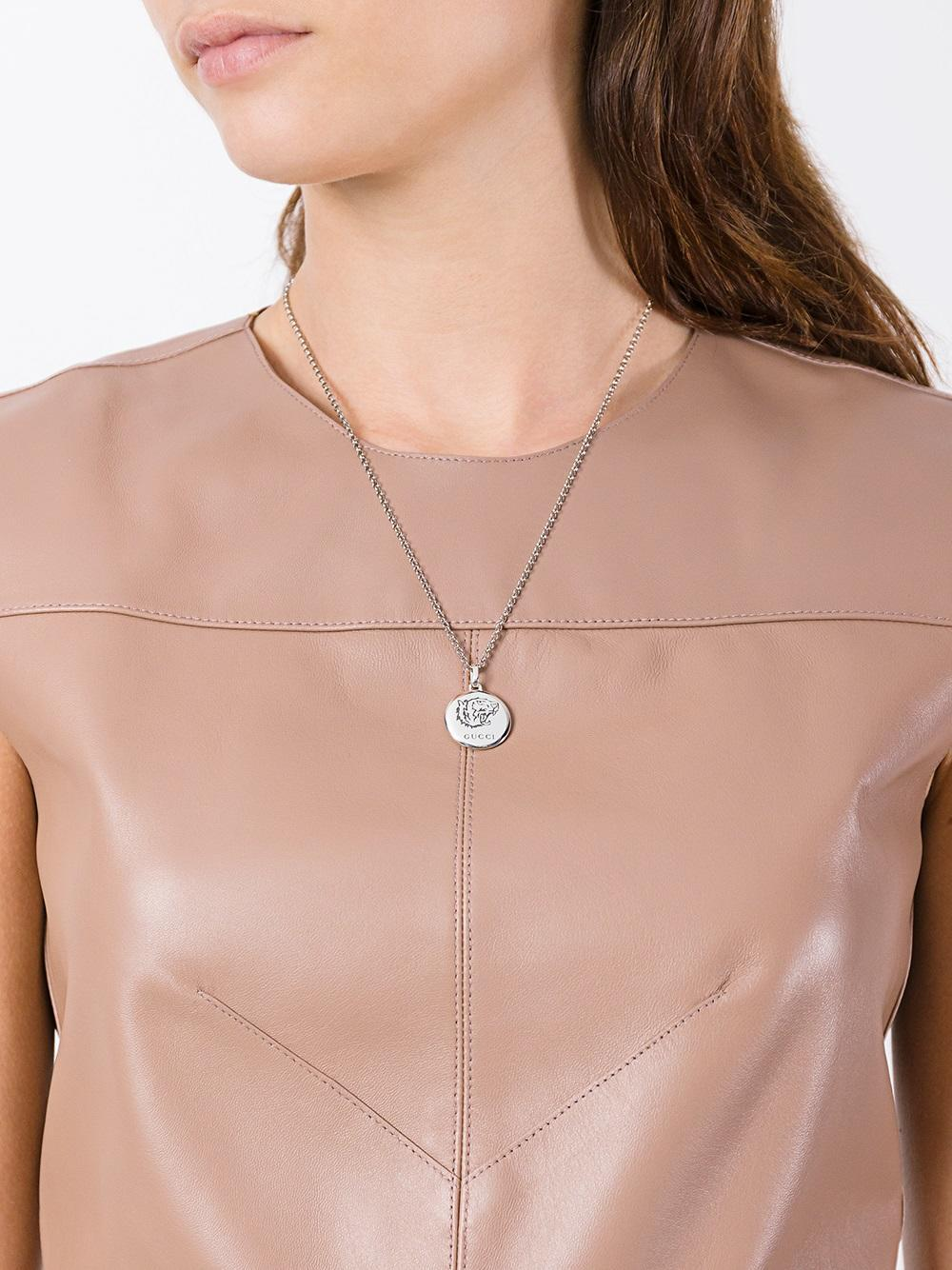 e5420fafd Gucci 'blind For Love' Necklace in Metallic - Lyst