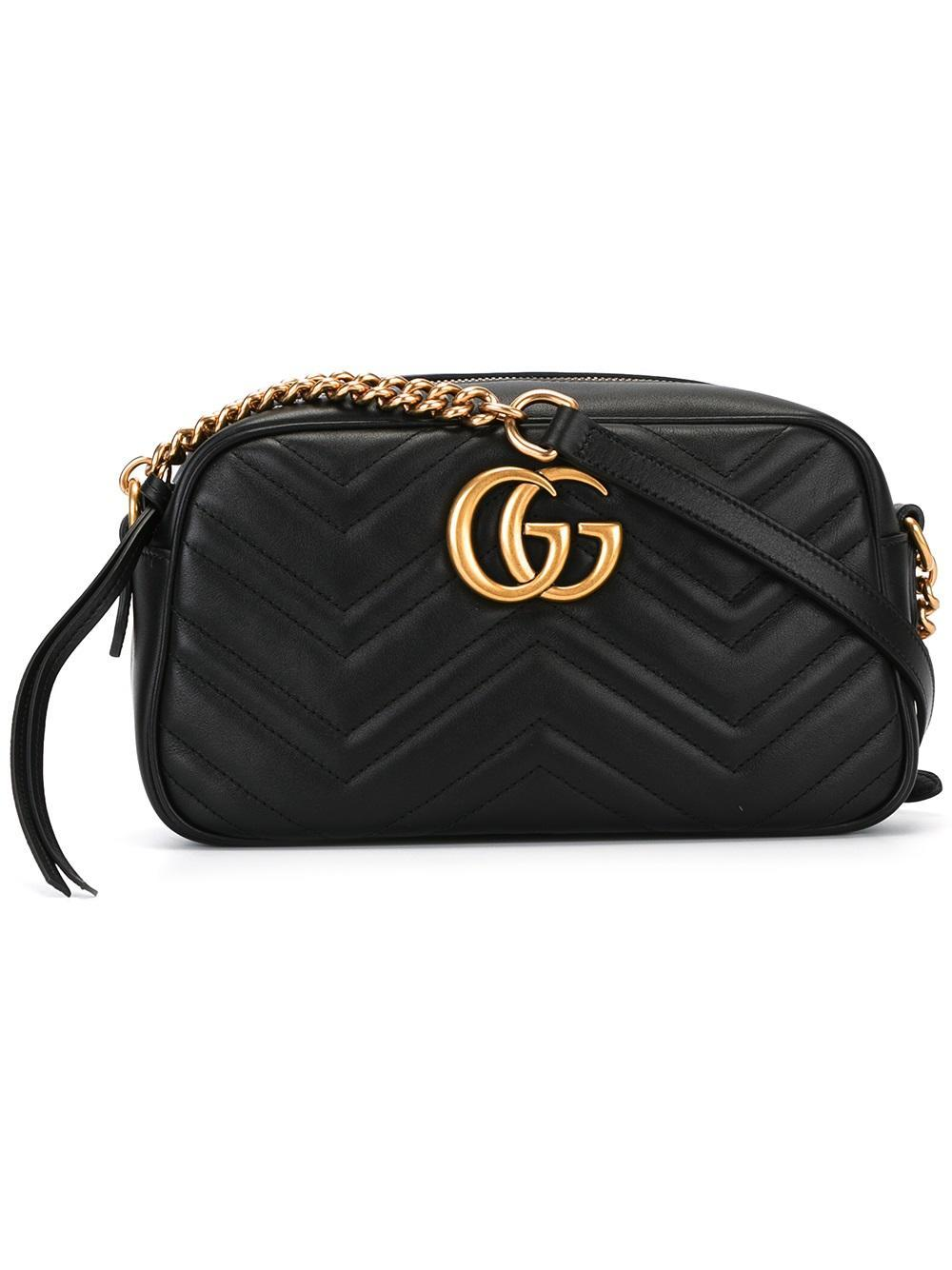 Lyst Gucci Quilted Crossbody Bag In Black