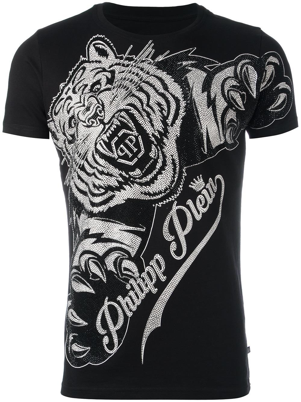 lyst philipp plein 39 claws 39 t shirt in black for men. Black Bedroom Furniture Sets. Home Design Ideas