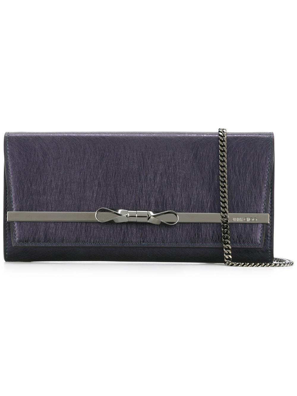 lyst jimmy choo lydia clutch in blue. Black Bedroom Furniture Sets. Home Design Ideas