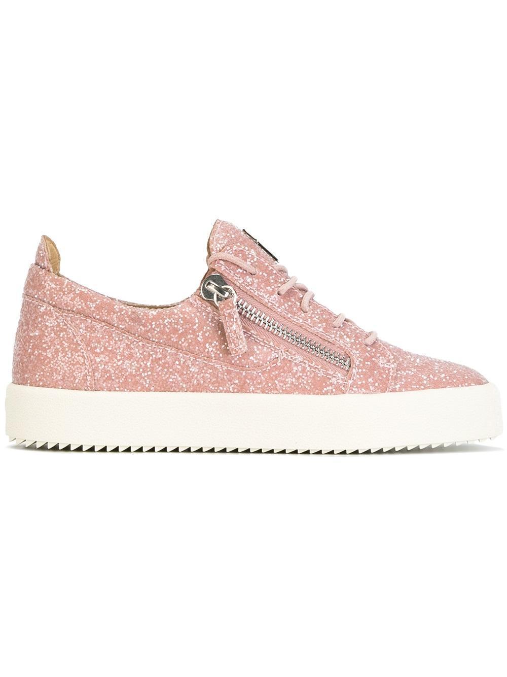 7429371375036 Giuseppe Zanotti 'cheryl' Glitter Sneakers in Pink - Lyst