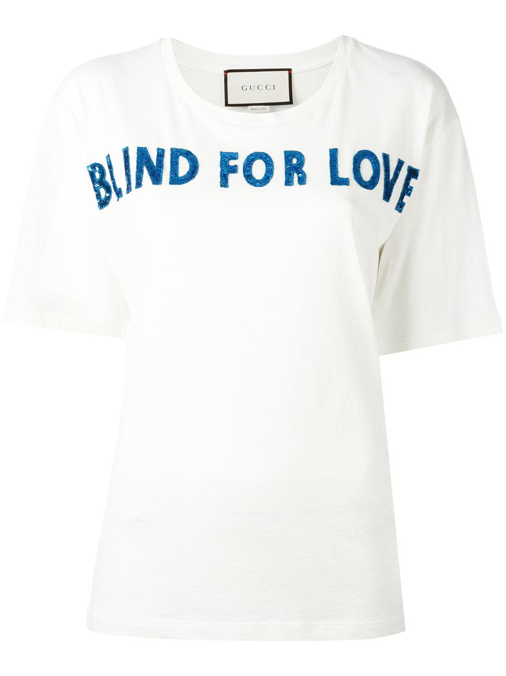 39217ba88a2 Lyst - Gucci Blind For Love T-shirt in White
