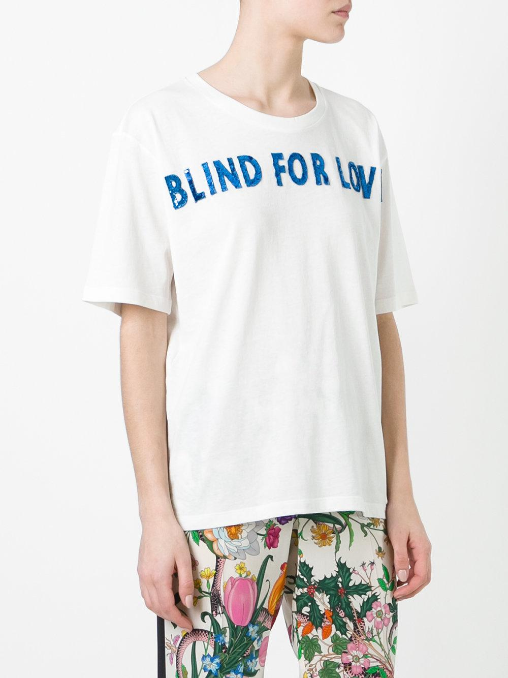 Lyst Gucci Blind For Love T Shirt In White