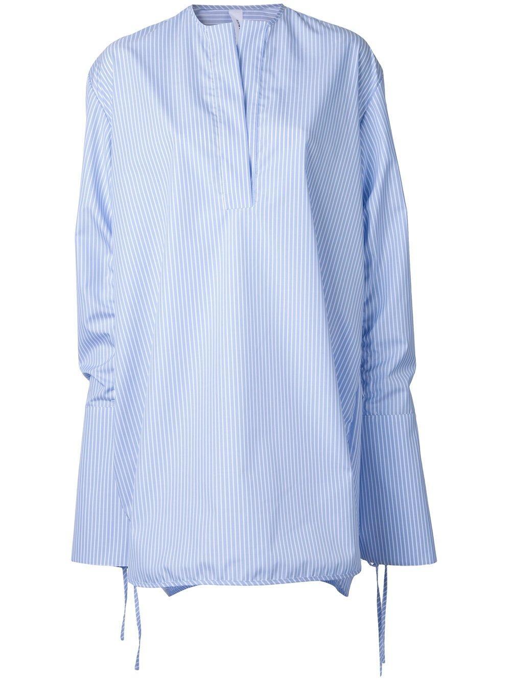 georgia alice perret oversized shirt in blue lyst. Black Bedroom Furniture Sets. Home Design Ideas