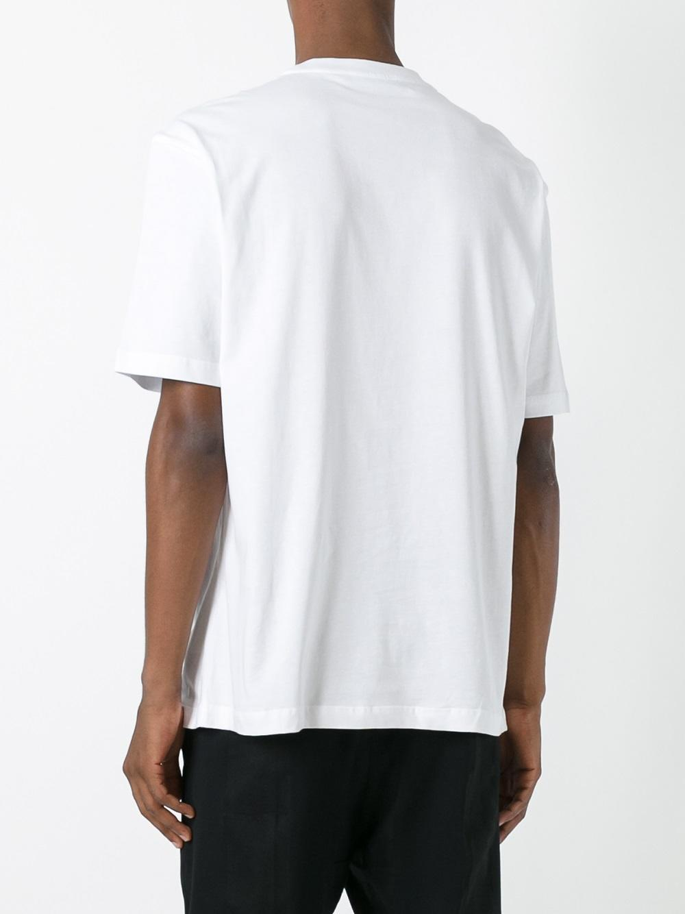 Lyst raf simons x robert mapplethorpe square print t for Raf simons robert mapplethorpe shirt