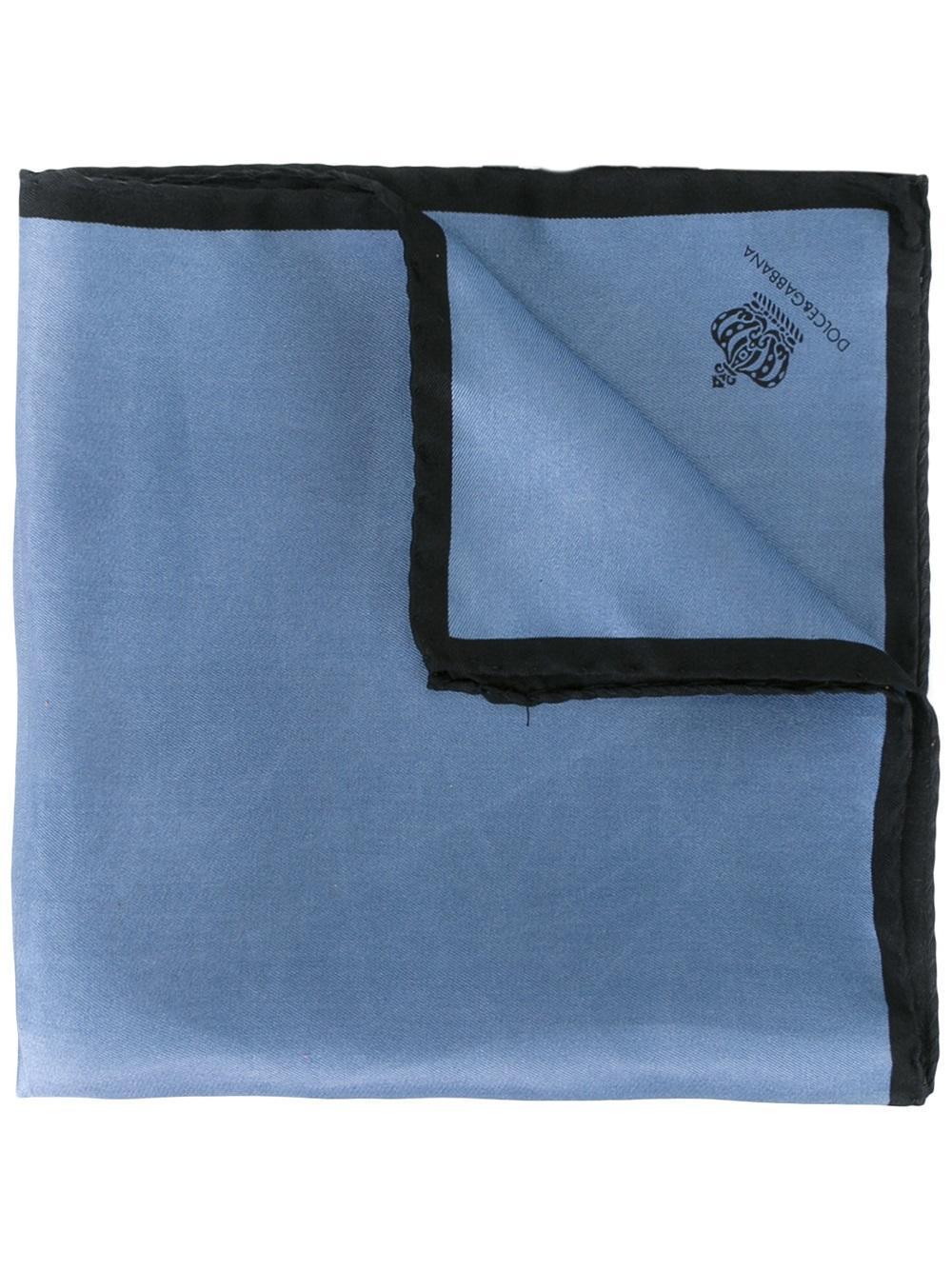 crown print pocket square - Blue Dolce & Gabbana 9huDDr