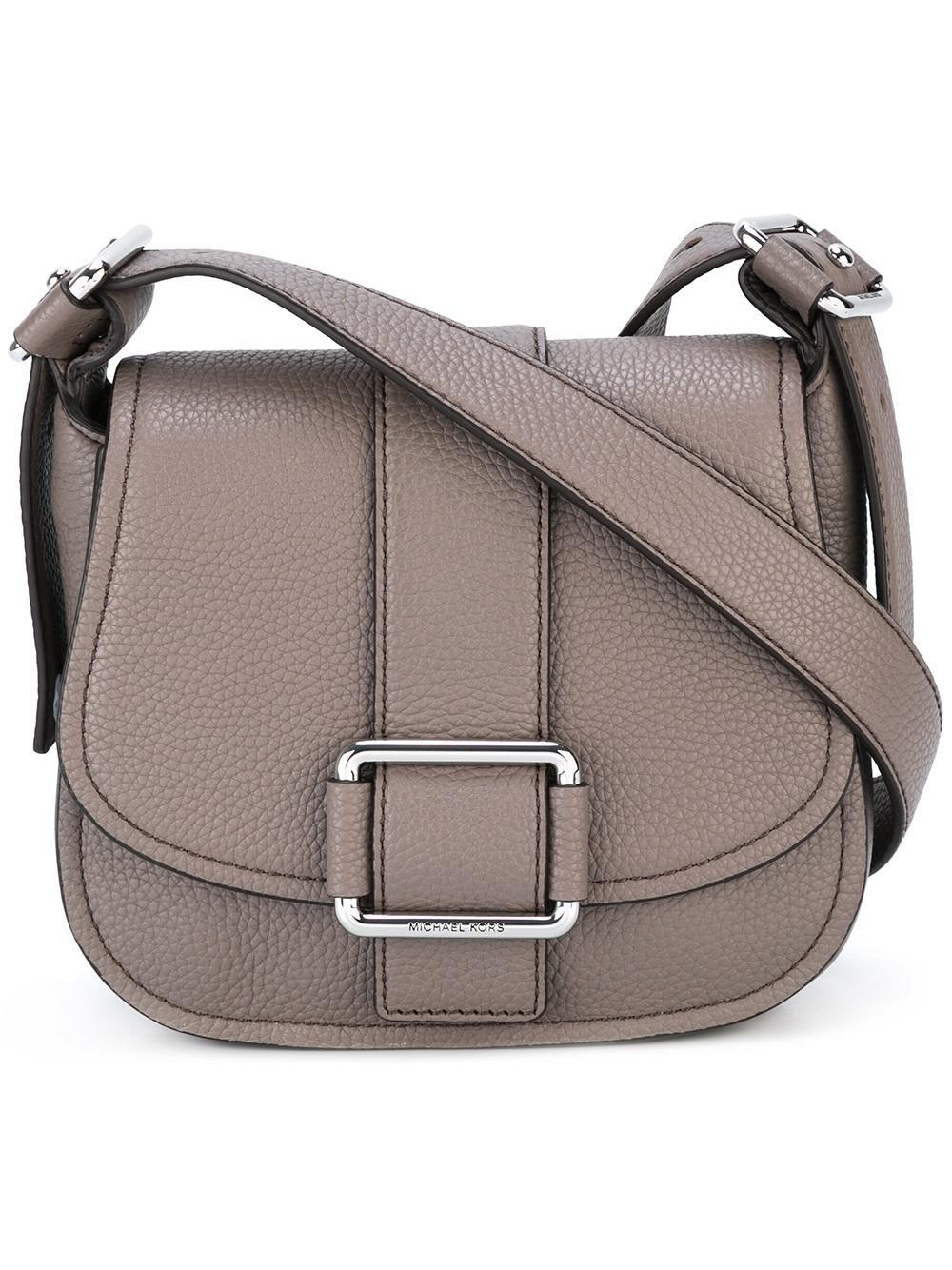 af6fbd5d2fa7 MICHAEL Michael Kors Maxine Saddle Crossbody Bag in Gray - Lyst