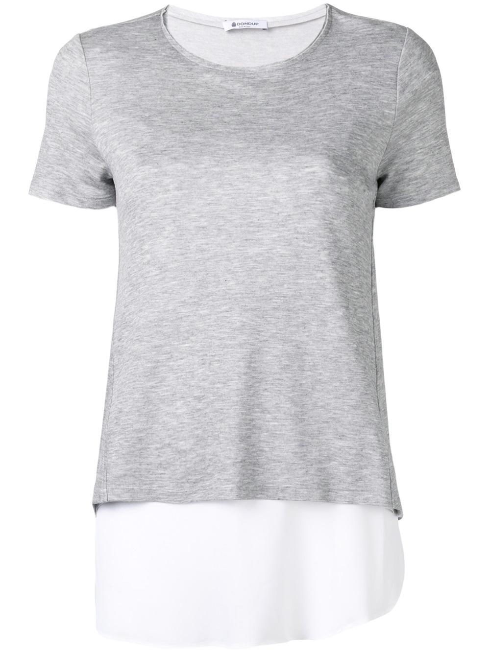 Dondup Layered T Shirt In Gray Lyst