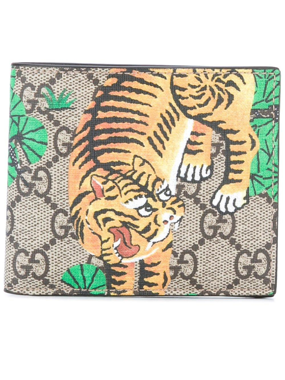 5effa7c0b5cc Gucci Gg Supreme Bengal Print Wallet in Brown for Men - Lyst